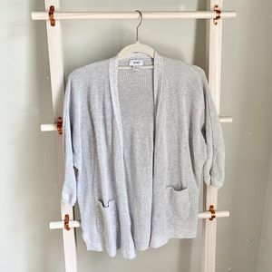 Old Navy Light Gray short Sleeve Cardigan